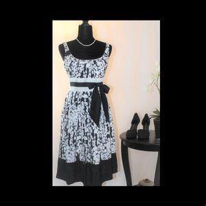 Beautiful Suzi Chin Black and White Cocktail Dress